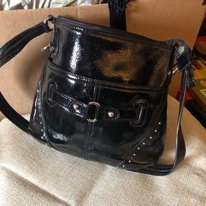 Black shoulder purse